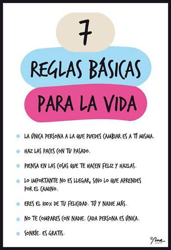 ¡7 reglas básicas para la vida!